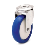 Swivel castor with central holeThe series  41
