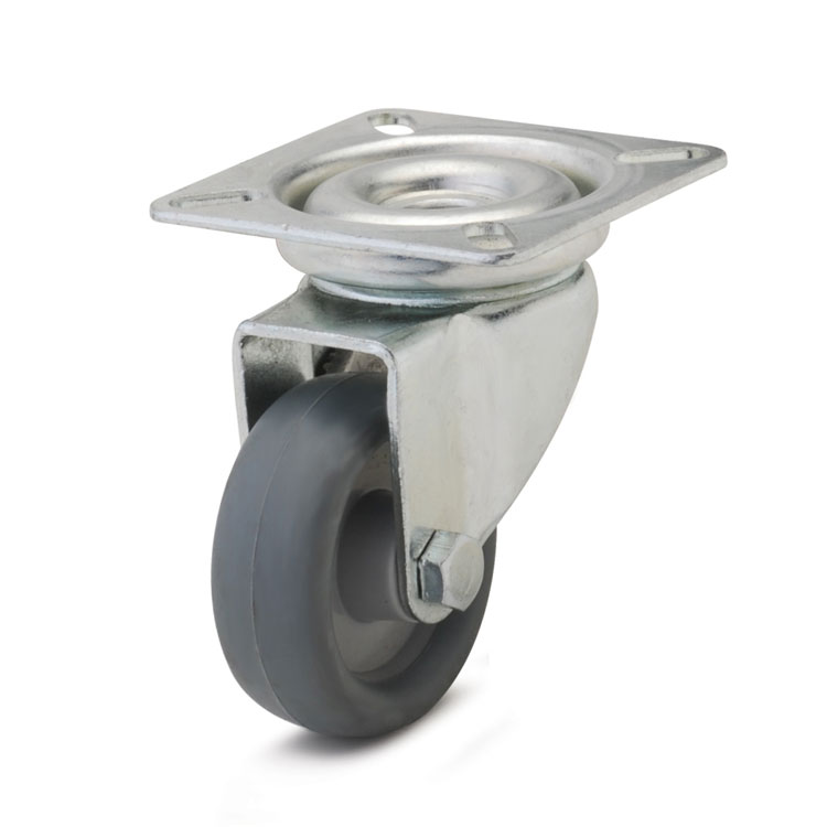 Wheels for use in public institutions, light industry, premises, at low loads.