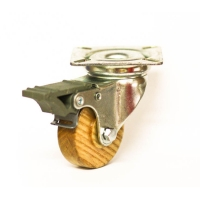 Swivel castor with brake and top plateThe series  69
